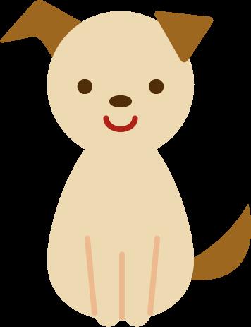 かわいい犬が座っているイラスト Illaletイラレット