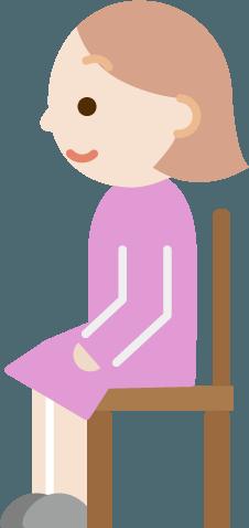 椅子に座る若い女性のイラスト横向き Illaletイラレット