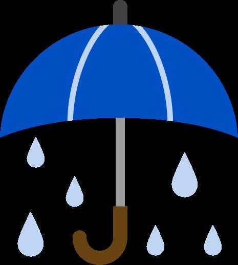 大雨アイコンのイラスト
