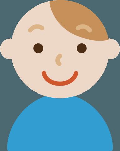 笑顔の若い男性のイラスト Illaletイラレット