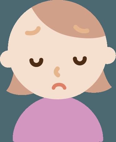 悲しい顔をする若い女性のイラスト Illaletイラレット