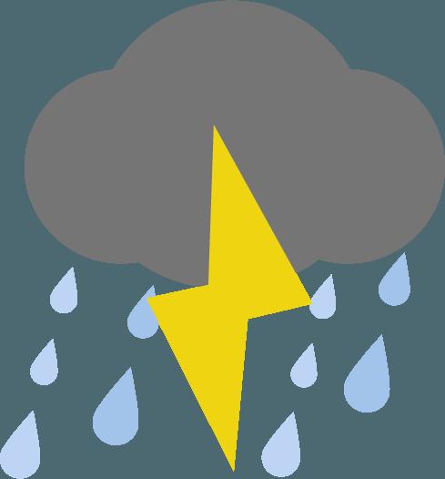 雷雨アイコンのイラスト