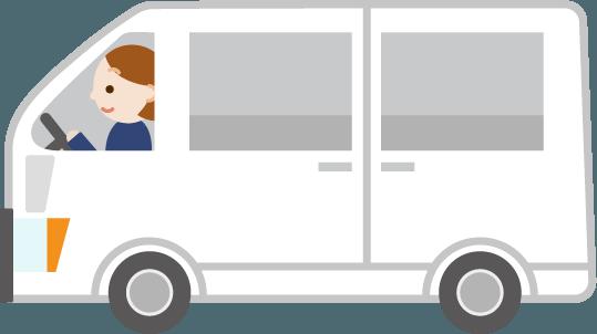 横向きの白いワゴン車のイラスト3 Illaletイラレット