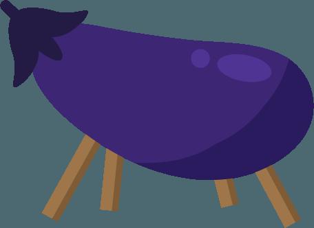 茄子の精霊馬のイラスト | 無料イラスト素材のillalet