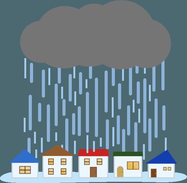 ゲリラ豪雨のイラスト2 Illaletイラレット