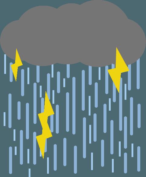ゲリラ豪雨のイラスト3 Illaletイラレット