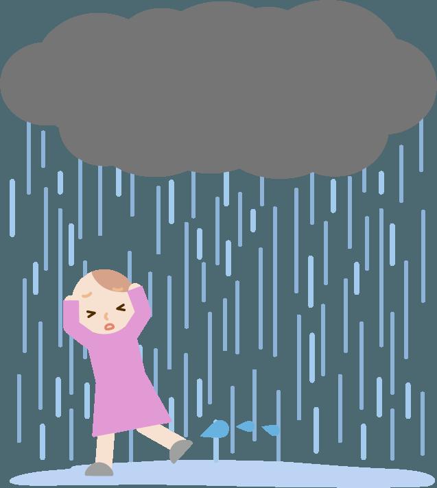 ゲリラ豪雨のイラスト6 Illaletイラレット