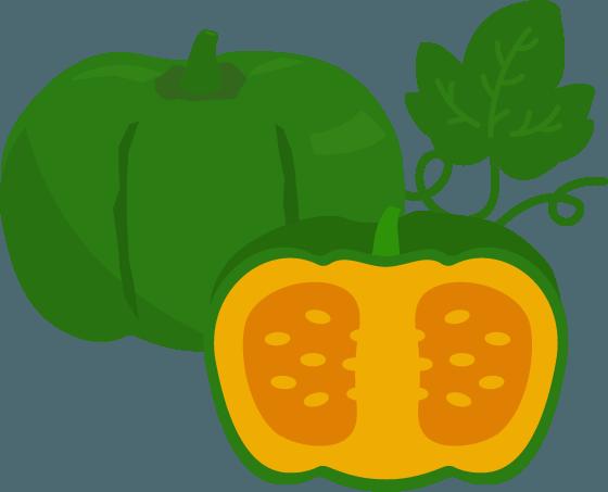 かぼちゃのイラスト4 Illaletイラレット