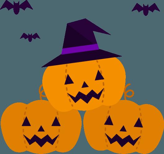 ハロウィンのかぼちゃとコウモリのイラスト Illaletイラレット