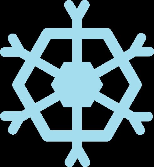 雪の結晶アイコンのイラスト