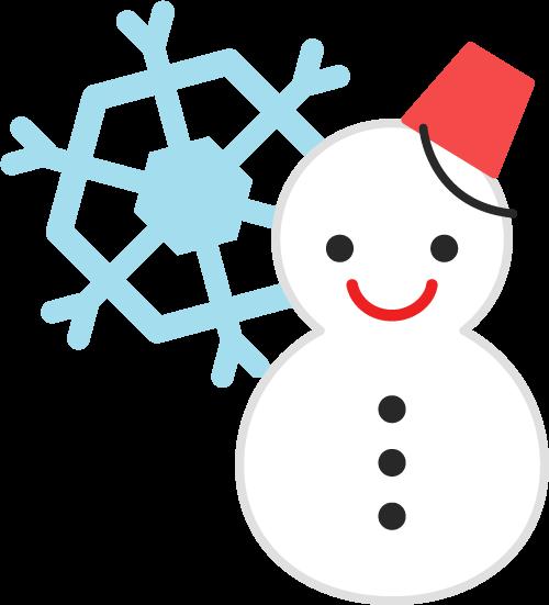 雪のアイコンのイラスト