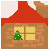 クリスマスの家のイラスト 無料イラスト素材のillalet