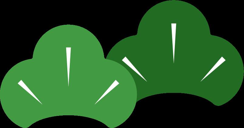 正月の松のイラスト2 Illaletイラレット
