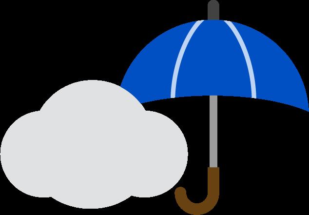 曇りのち雨の天気アイコンのイラスト
