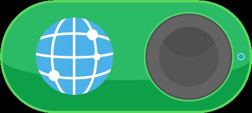 インターネットのIoTボタンのイラスト