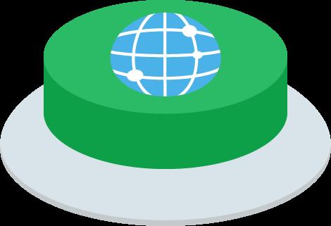 インターネットのIoTボタンのイラスト2