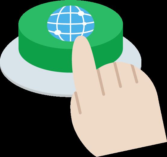 インターネットのIoTボタンのイラスト3