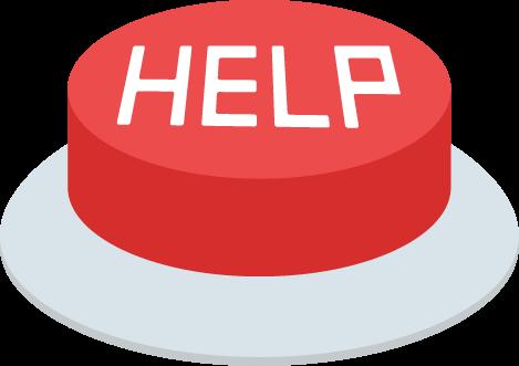 緊急救助用「HELP」のIotボタンのイラスト