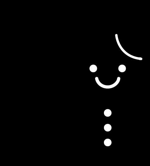 雪のアイコンのイラスト(白黒)