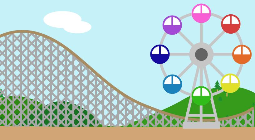 遊園地のイラスト