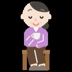 椅子に座る中年男性のイラスト 無料イラスト素材のillalet