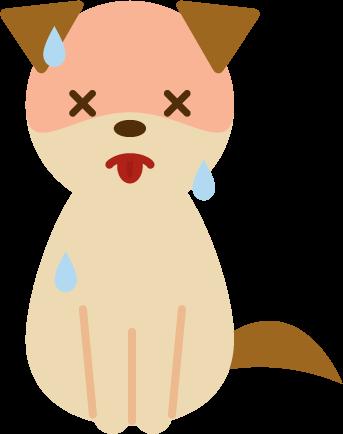 夏バテする犬のイラスト1