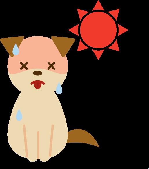 夏バテする犬のイラスト2
