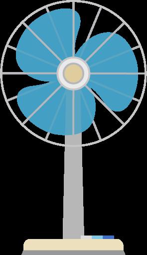扇風機のイラスト(円形)