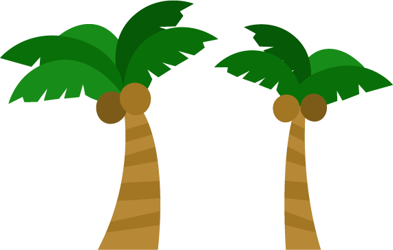 ヤシの木のイラスト(複数)