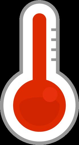 温度計のアイコンイラスト(高温)