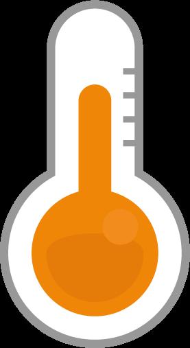 温度計のアイコンイラスト(常温)
