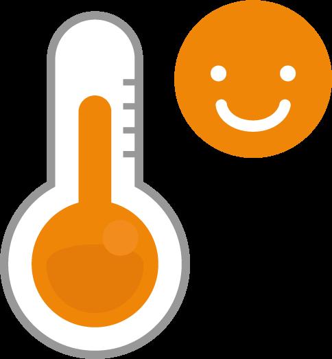 温度計のアイコンイラスト常温スマイル Illaletイラレット