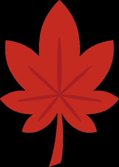 もみじのイラスト(赤色)