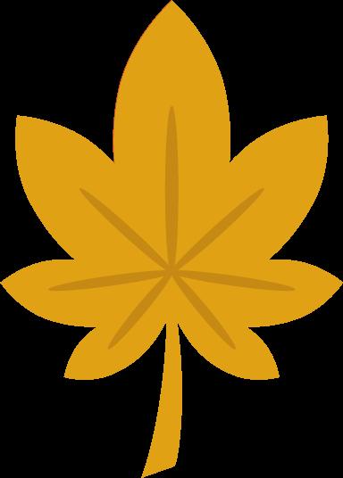 もみじのイラスト(黄色)