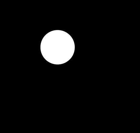 台風のアイコンイラスト(白黒)
