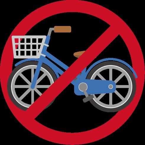 自転車進入禁止アイコンのイラスト