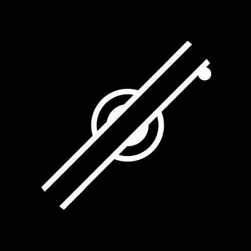 カメラ禁止アイコンのイラスト(白黒)
