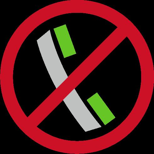 通話禁止アイコンのイラスト