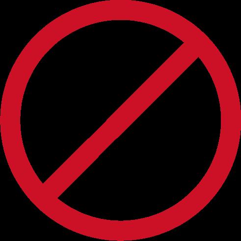 通話禁止アイコンのイラスト(黒赤)