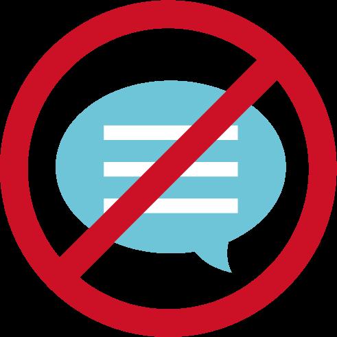 おしゃべり禁止アイコンのイラスト