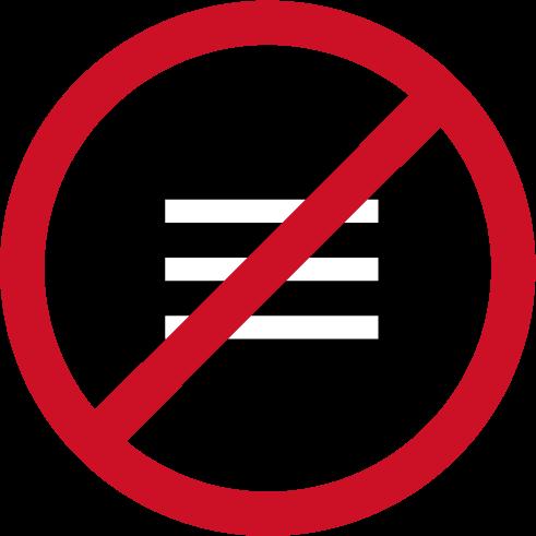 おしゃべり禁止アイコンのイラスト(黒赤)