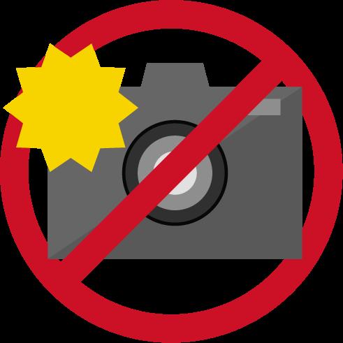 フラッシュ禁止アイコンのイラスト