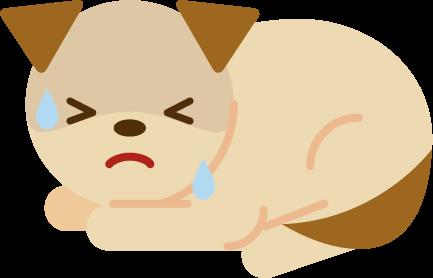 具合の悪い犬のイラスト