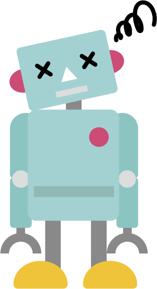 困るロボットのイラスト