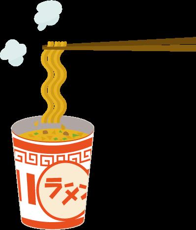 カップ麺のイラスト(箸)