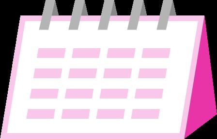 カレンダーアイコンのイラスト
