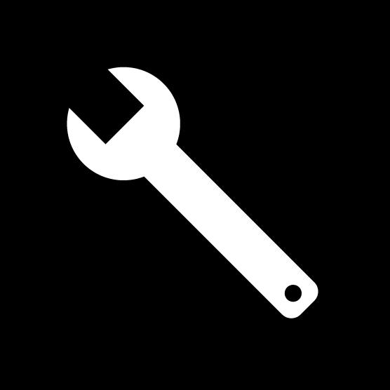 設定アイコンのイラスト3(丸・白黒)