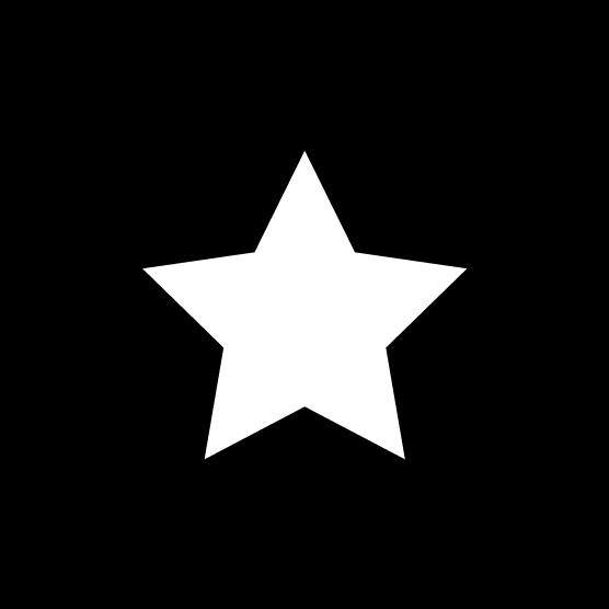 星のアイコンのイラスト(丸・白黒)