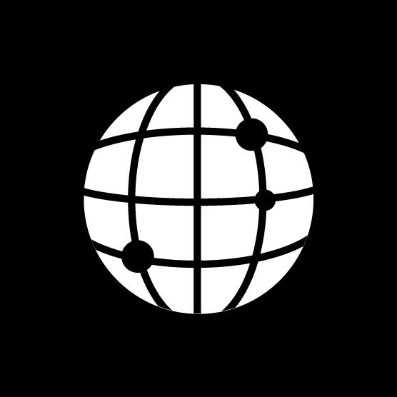 ブラウザアイコンのイラスト(丸・白黒)