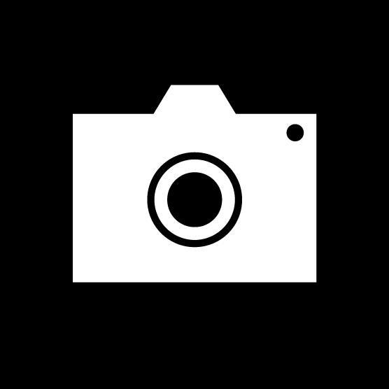 カメラアイコンのイラスト(丸・白黒)